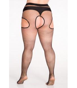 ART. 137 Rajstopy Size ++ Kabaretki Strip panty 20 den